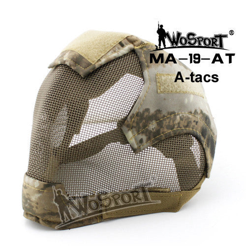Military Airsoft Paintball Masks Tactical Steel Mesh Full Face