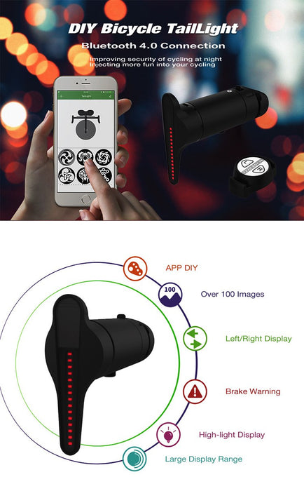 Bluetooth Wireless Bike Multi-pattern APP Smart Brake - ManSeeManWant