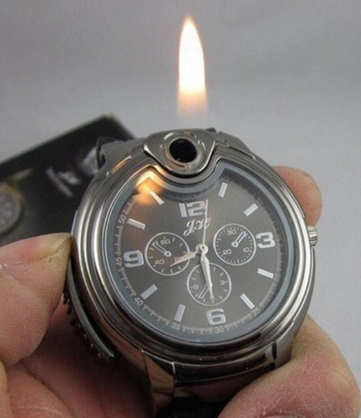 Camping watch with butane lighter - ManSeeManWant