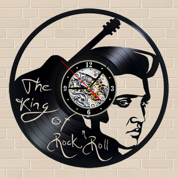Elvis Vinyl Clock Broken Record