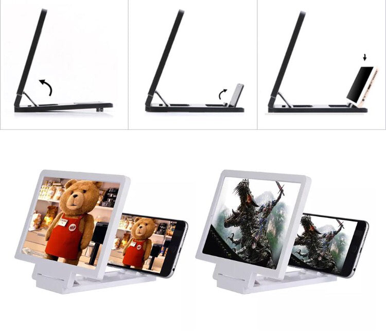 3D Enlarged Screen Mobile Phone Amplifier Magnifier Bracket Cellphone Holder - ManSeeManWant