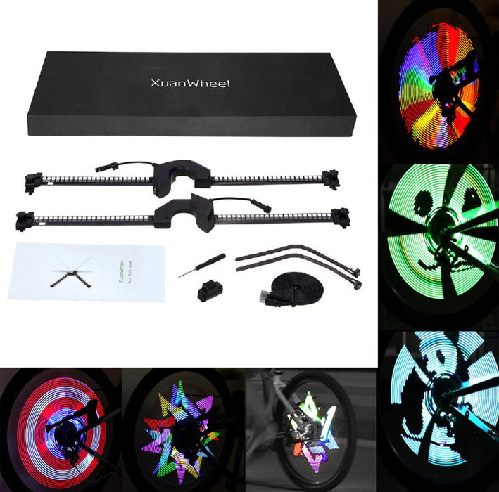 LEDs Bicycle Colorful Spoke Programmable Light Pattern - ManSeeManWant