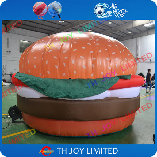 free shipping! 3m/10ft giant inflatable hamburger inflatable burger,inflatable food advertising model - ManSeeManWant