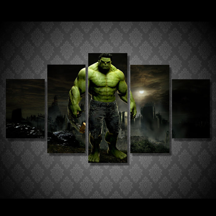 "The Hulk ""ManCave"" 5 Panel Canvas Art Kids Room - ManSeeManWant"