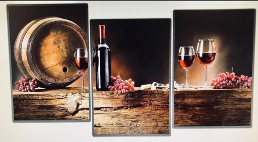 "Wine Barrel canvas art framed 60""x30"" wine"