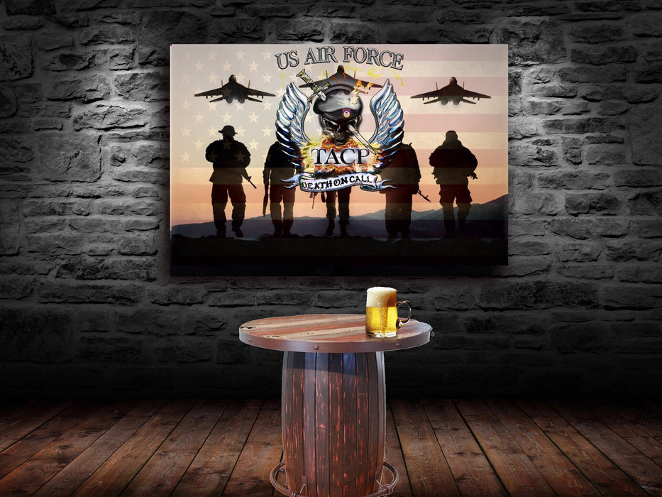 "U.S. Air Force TACP wall canvas 40""x28"""