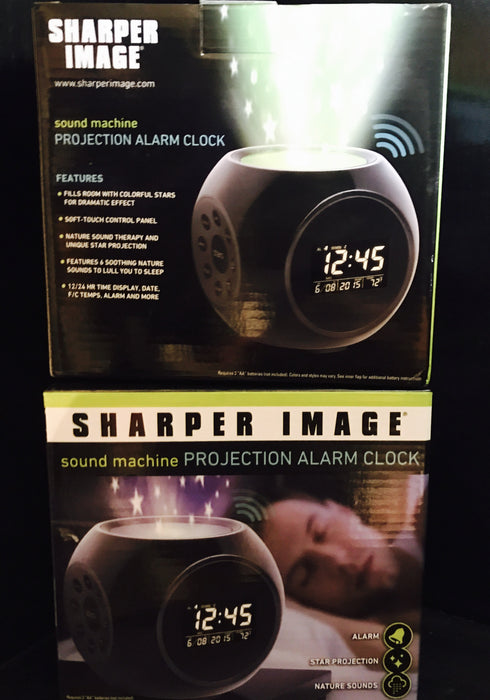 Sharper Image 1520045 Projection Alarm Clock Manseemanwant