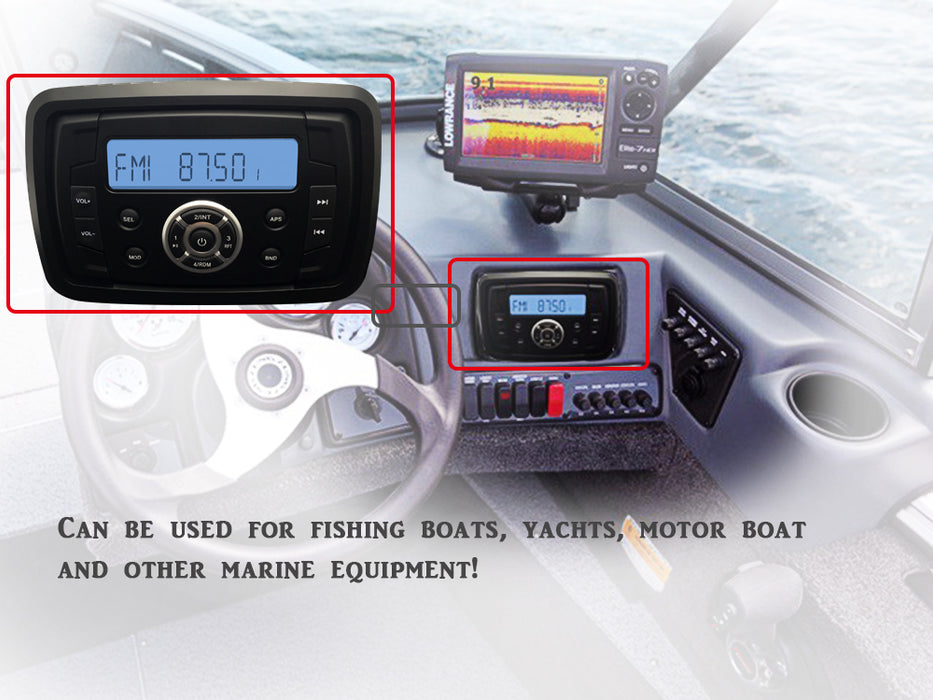 Waterproof Marine Stereo Motorcycle Radio Audio Sound System