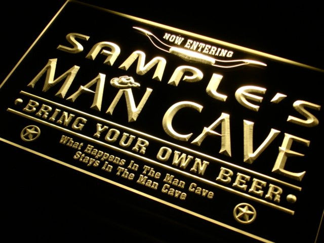 Personalized Custom Man Cave Beer Bar Neon Light Sign