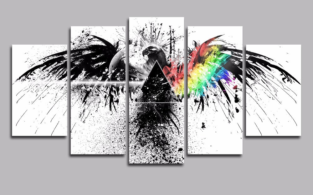 Pink Floyd 5 Panel Canvas Art for ManCave