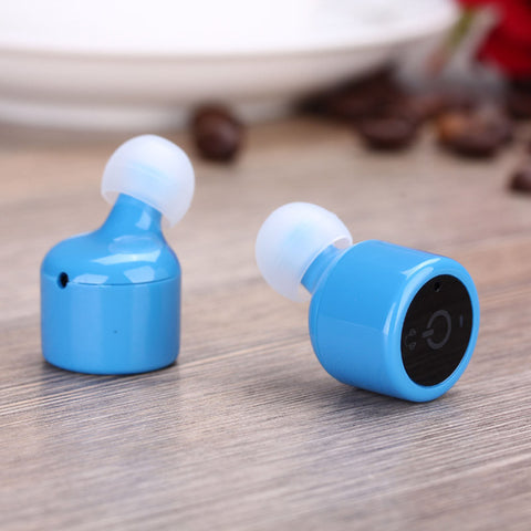 Earbuds with microphone blue - bluetooth stereo earbuds with amp