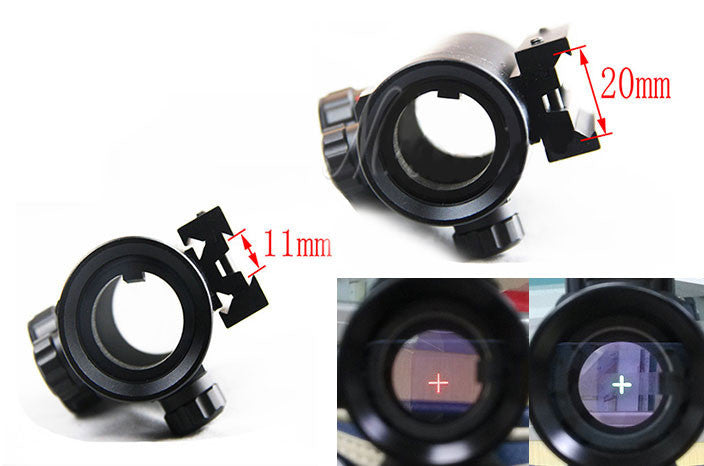 Military Tactical Hunting Holographic  Red Green Dot Sight 11 & 20mm Rail Mount