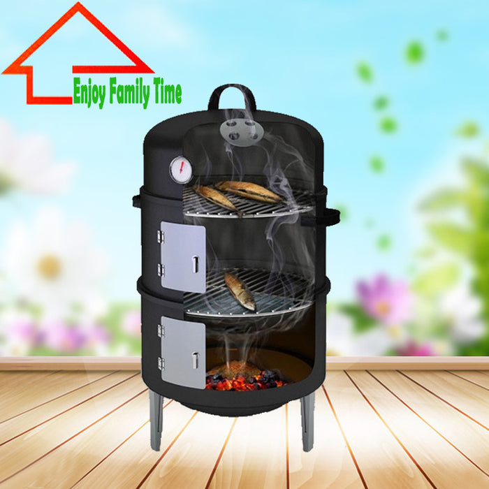 17Inch Barbecue Smoker Grill for Outdoor - ManSeeManWant