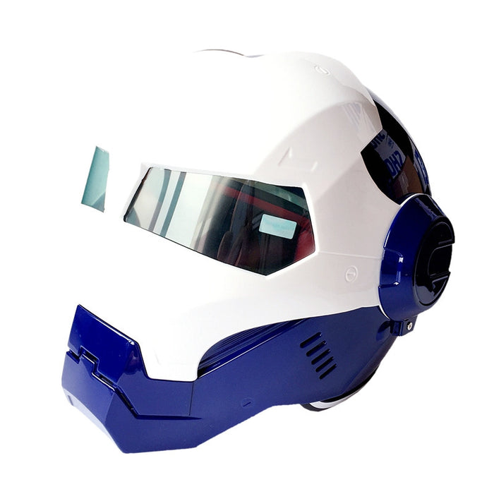 DOT Approved Ironman Motorcycle Skull Open Face Helmet Casco Capacete Flip Up Motorcycle Helmets - ManSeeManWant