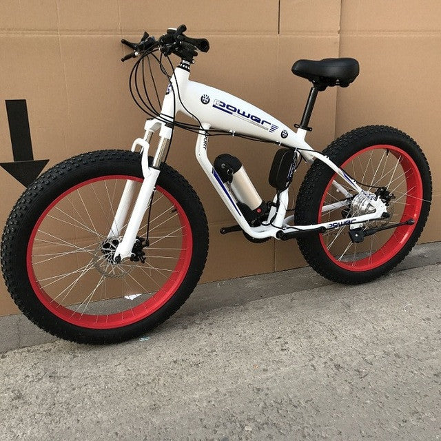 Electric Bicycle Mountain With Battery, 26x4.0 Wheel scooter - ManSeeManWant