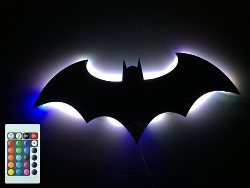 Batman 16 colors backlit mirror light LED - ManSeeManWant