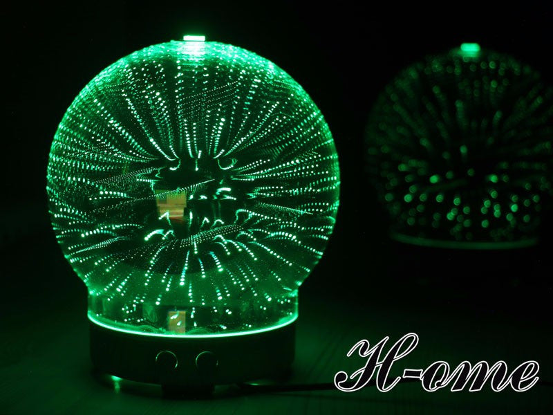 Aromatherapy Diffuser Essential Oil 3D Glass Led Light - ManSeeManWant