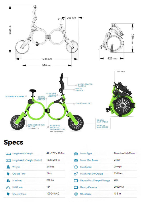 Electric Bicycle E-Bike Scooter - ManSeeManWant