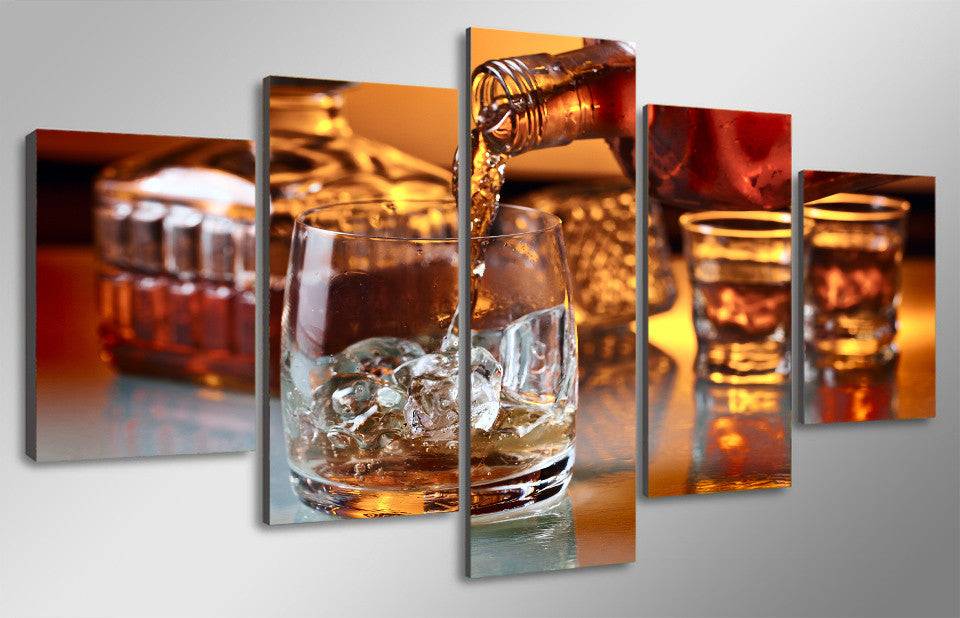 5 Pieces Canvas Liquor - ManSeeManWant