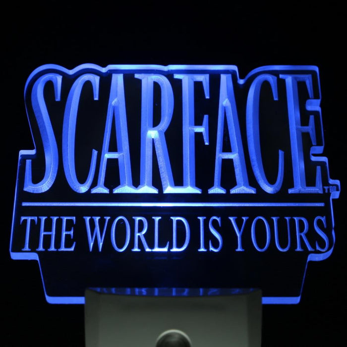 Scarface The World is Yours Day/ Night Sensor Led Night Light Sign ManCave - ManSeeManWant