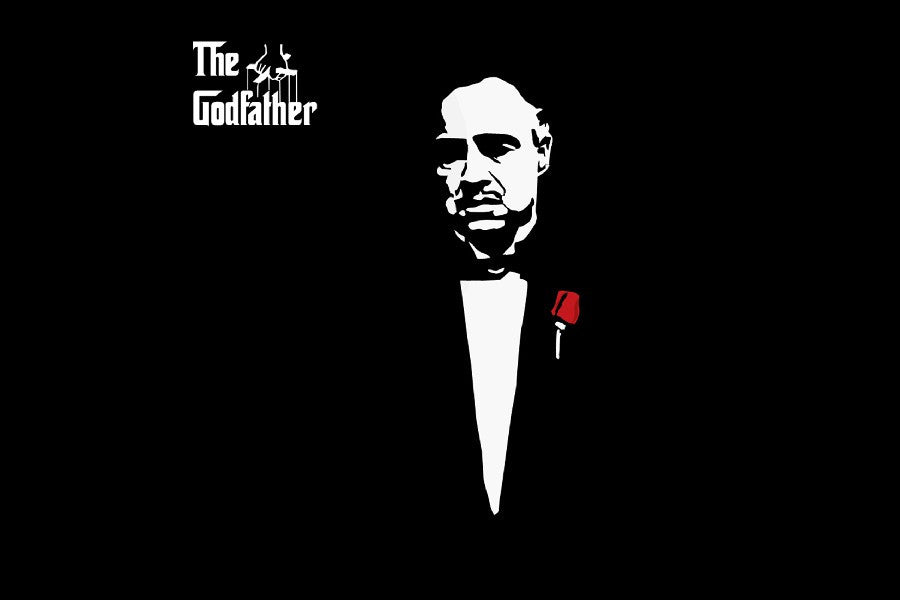 Don Vito Corleone the Godfather poster Canvas Fabric - ManSeeManWant