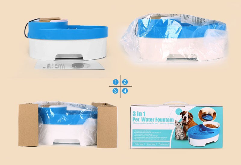 3 in 1 Pet Electric Water Fountain Feeder - ManSeeManWant