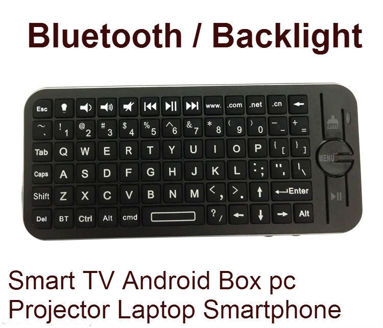 Mini iPazzPort Backlight Bluetooth Wireless Keyboard Air Mouse Remote Control for Apple Android Smart TV Box Laptop projector - ManSeeManWant