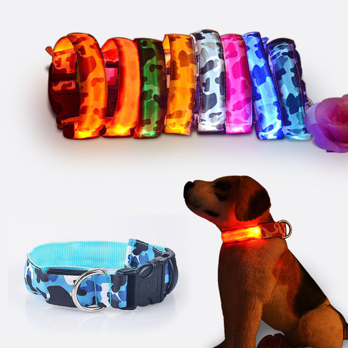 Camouflage  LED lamp dog collar - ManSeeManWant