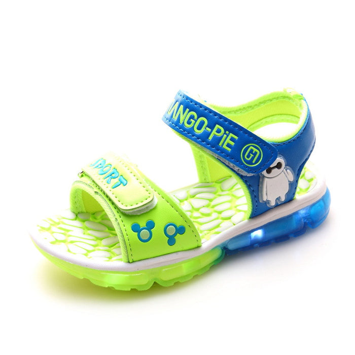 LED kids shoes blue/green/red flasher - ManSeeManWant