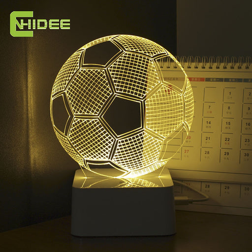 3D Illusion Soccer Lamp Home ManCave - ManSeeManWant