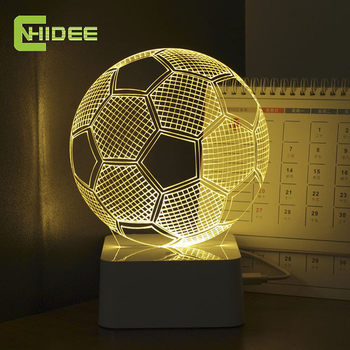CNHIDEE Five Colors USB 3D Illusion Football Night Lights Led Touch Talbe Lampara as Home Decor Bedroom Luz Nocturna - ManSeeManWant