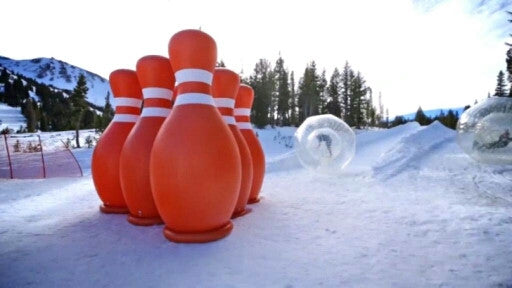 Inflatable bowling bottle use for zorb ball( human hamster ball), 1.5M hight - ManSeeManWant