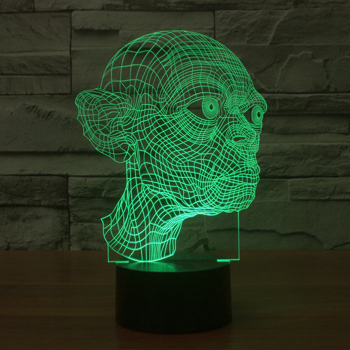 LED colorful 3D light touch Gollum acrylic Vision Stereo lamp switch lamp lights illusion gradient - ManSeeManWant