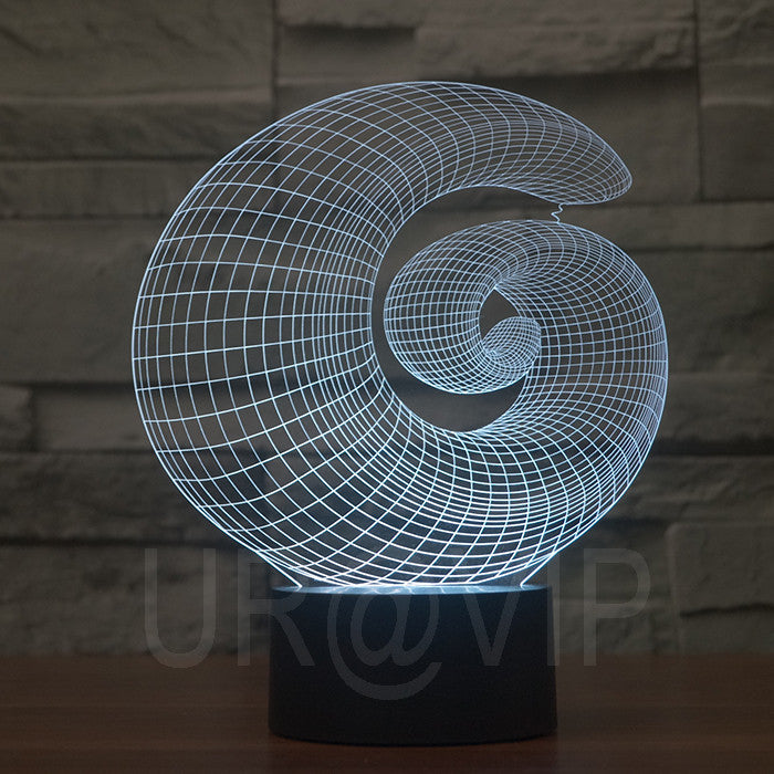 JC-2871  Magical 3D Optical Illusion LED Table Lamp Lighting Novelty - ManSeeManWant