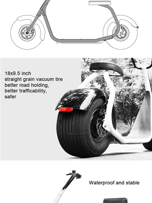 2 wheels balance off road city scooter - ManSeeManWant