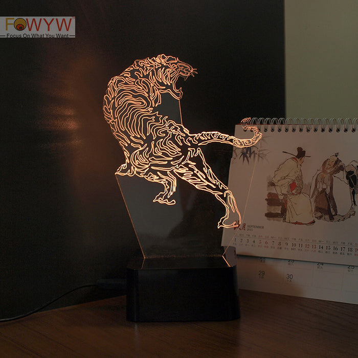 3D Tiger night light - ManSeeManWant