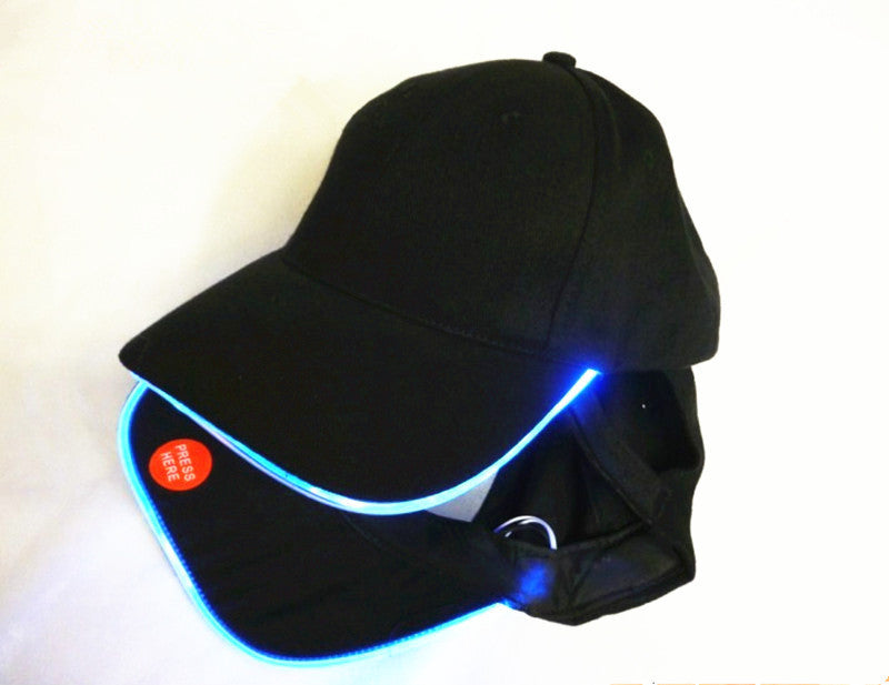 Led light hat sports cap with optical fiber cotton - ManSeeManWant