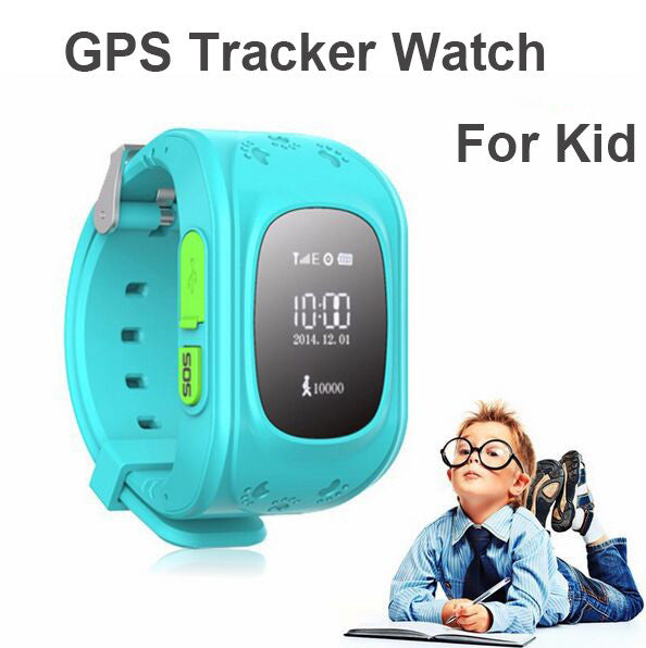 HQ Anti Lost GPS Tracker Watch For Kids SOS Emergency GSM Smart Mobile Phone App For IOS & Android Smartwatch Wristband Alarm - ManSeeManWant