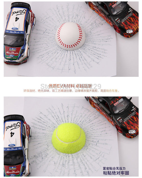 3D Car Window sticker Football Baseball Basketball tennis - ManSeeManWant