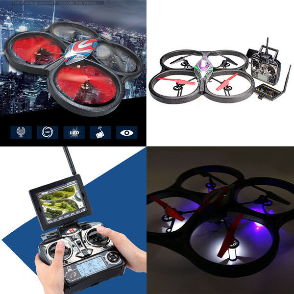 Drone 4CH RC Quadcopter With Camera and Monitor RTF - ManSeeManWant