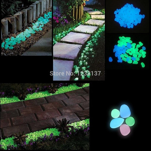 Glow Rocks- Glowing in the Dark  Pebble Stone - ManSeeManWant