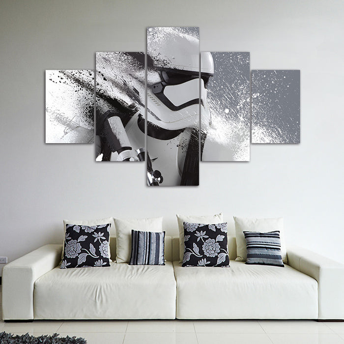 """Star Wars"" Art 5 Panel Canvas for ManCave Wall Art - ManSeeManWant"
