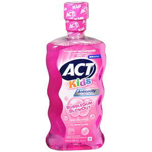 Act Kids Anticavity Fluoride BubbleGum Blowout Rinse