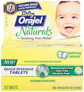Baby Orajel Naturals Teething Tablets
