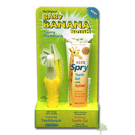 Spry Kids Baby Banana Training Brush & Tooth Gel
