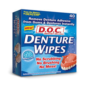 Dentist On Call Denture Adhesive Remover Wipes