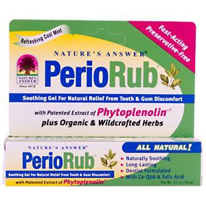 Nature's Answer PerioRub Soothing Gel for Tooth and Gum Discomfort