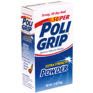 Super PoliGrip Denture Adhesive Powder Extra Strength