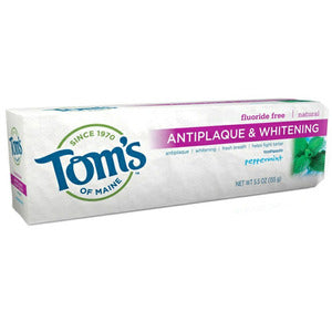 Tom's of Maine Natural Anti-Plaque plus Whitening Gel Toothpaste