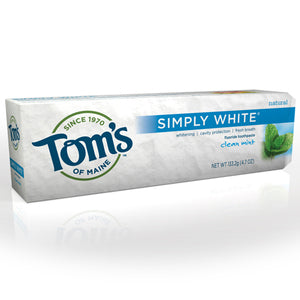 Tom's of Maine Simply White Fluoride Toothpaste